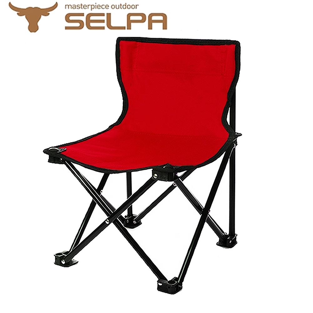 【韓國SELPA】戶外折疊靠背椅(紅色)