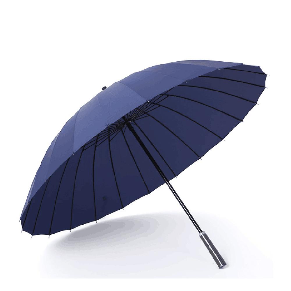 PUSH! 好聚好傘, 24骨3人UPF30+抗紫外線雨傘遮陽傘(附贈懸掛傘架子1pcs)I27-1深藍