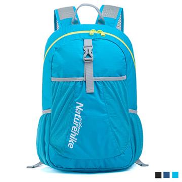 PUSH!旅遊戶外用品折疊便攜式登山包背包騎行包旅行包萬用旅行收納袋U41淺湖藍