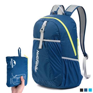 PUSH!旅遊戶外用品折疊便攜式登山包背包騎行包旅行包萬用旅行收納袋U41-1藏青