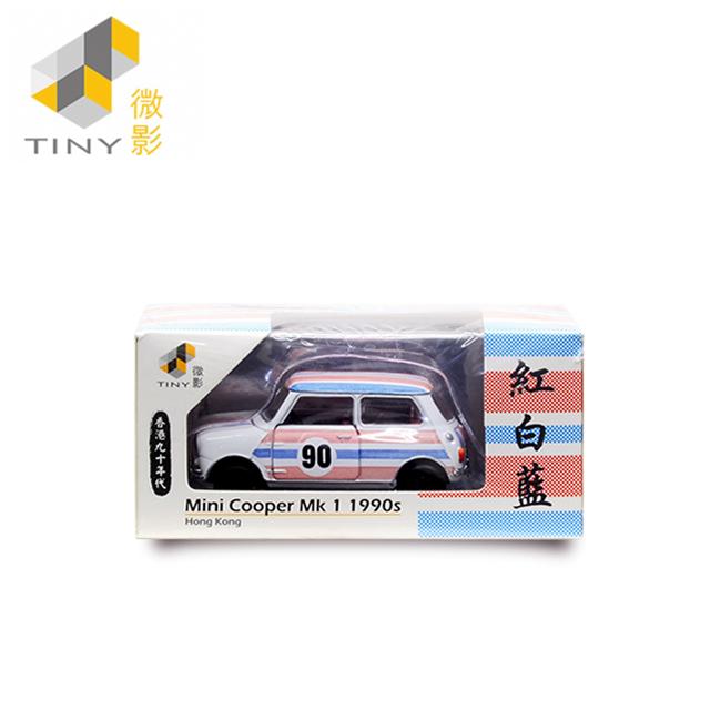 [Tiny] Mini Cooper Mk 1 香港經典六十年系列 1990年代 (紅白藍、可開式車門及引擎蓋)