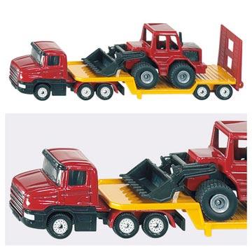《SIKU》SIKU平板拖車(堆土機)