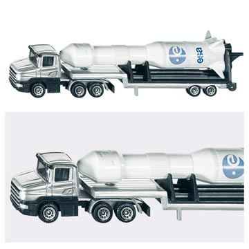 《SIKU》SIKU平板拖車(火箭)