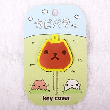 Kapibarasan 水豚君造型鑰匙套(粉/黃)