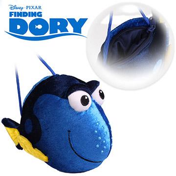 迪士尼正版授權│海底總動員 多莉Dory 拉鍊包+揹繩(電子絲絨)