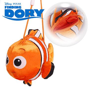 迪士尼正版授權│海底總動員 尼莫Nemo 拉鍊包+揹繩(電子絲絨)