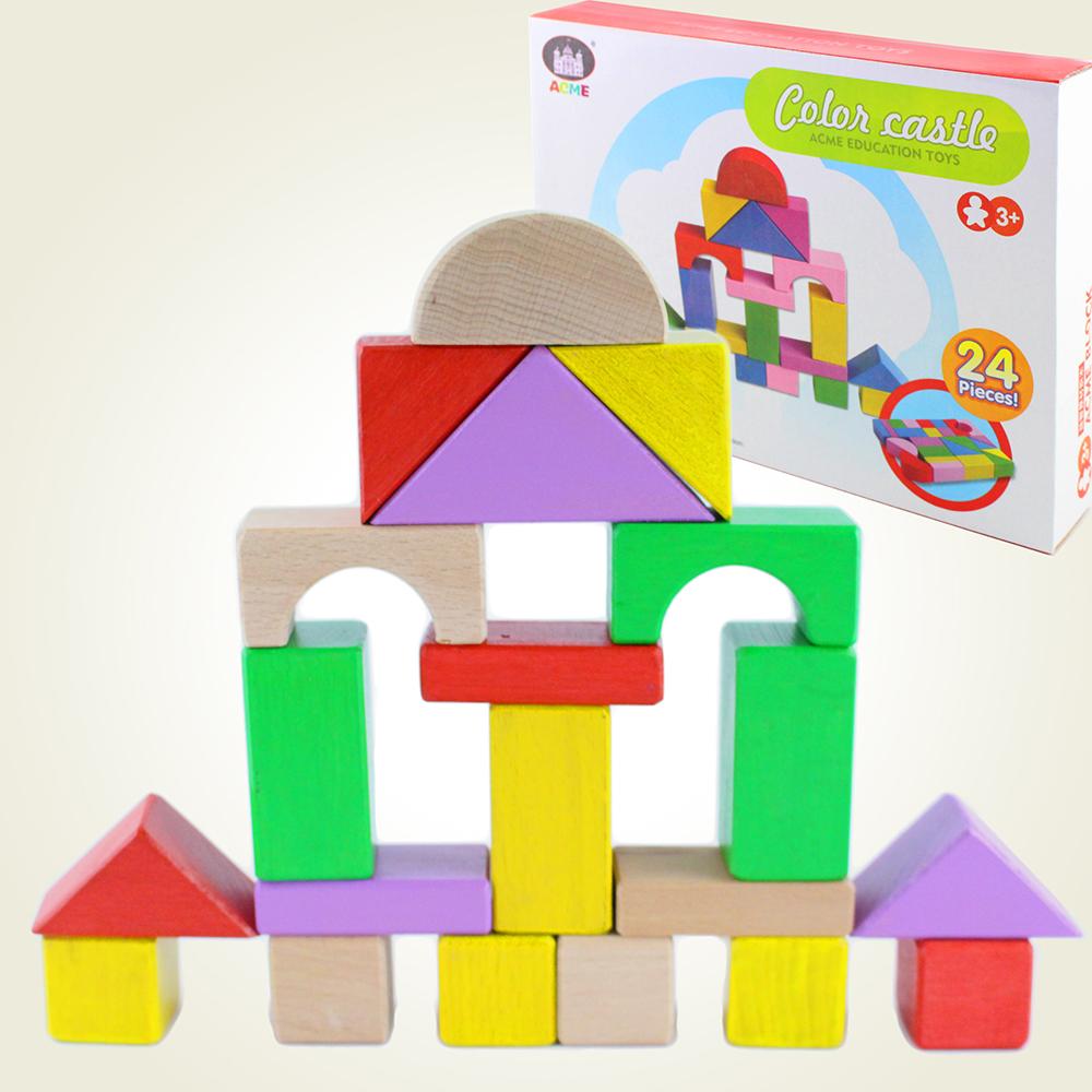 【瑪琍歐玩具】彩色城堡24片積木組