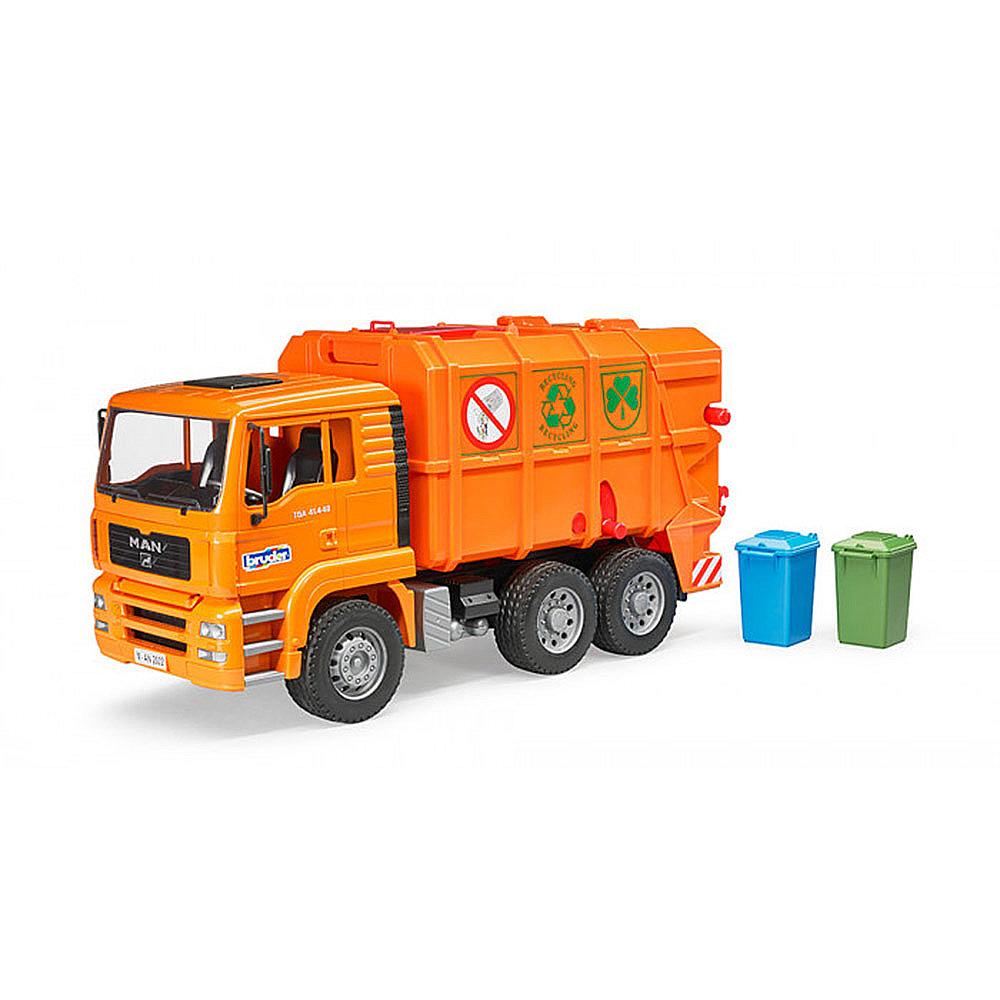 BRUDER 橘垃圾車