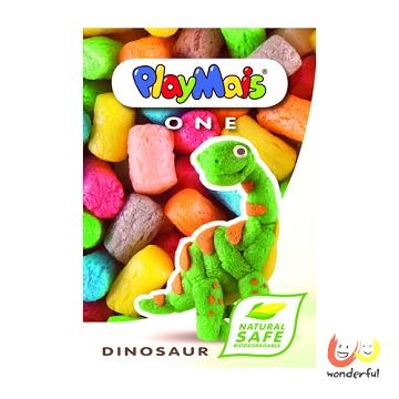 《Playmais》玩玉米創意黏土小巧盒-恐龍