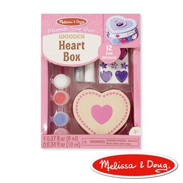 美國瑪莉莎 Melissa & Doug 木製愛心珠寶盒