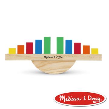 美國瑪莉莎 Melissa & Doug  益智遊戲 - 彩虹平衡積木