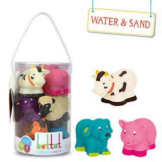 【美國 B.Toys 感統玩具】Battat系列-洗澡玩具-農場 BT2467