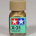 模型漆類 TAMIYA 水性漆 (X-31) 鈦金 Titanium Gold
