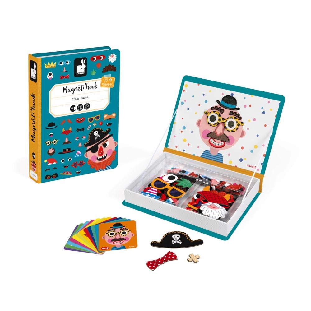 【法國Janod】磁鐵遊戲書-有趣的臉