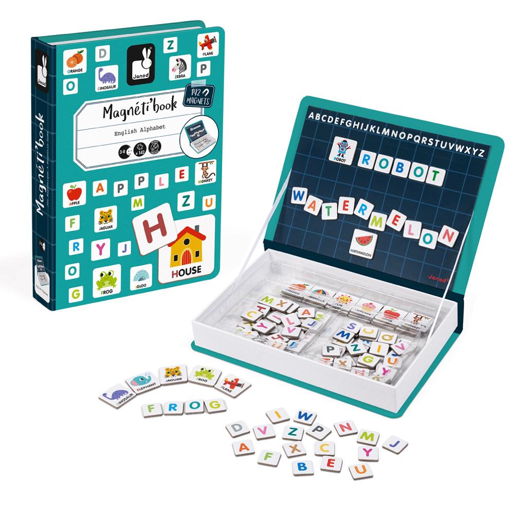 【法國Janod】磁鐵遊戲書-英文字母拼字