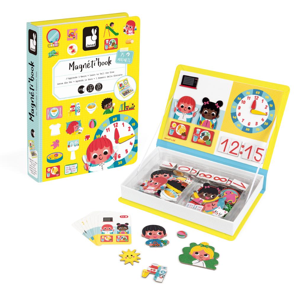 【法國Janod】磁鐵遊戲書-我的一天