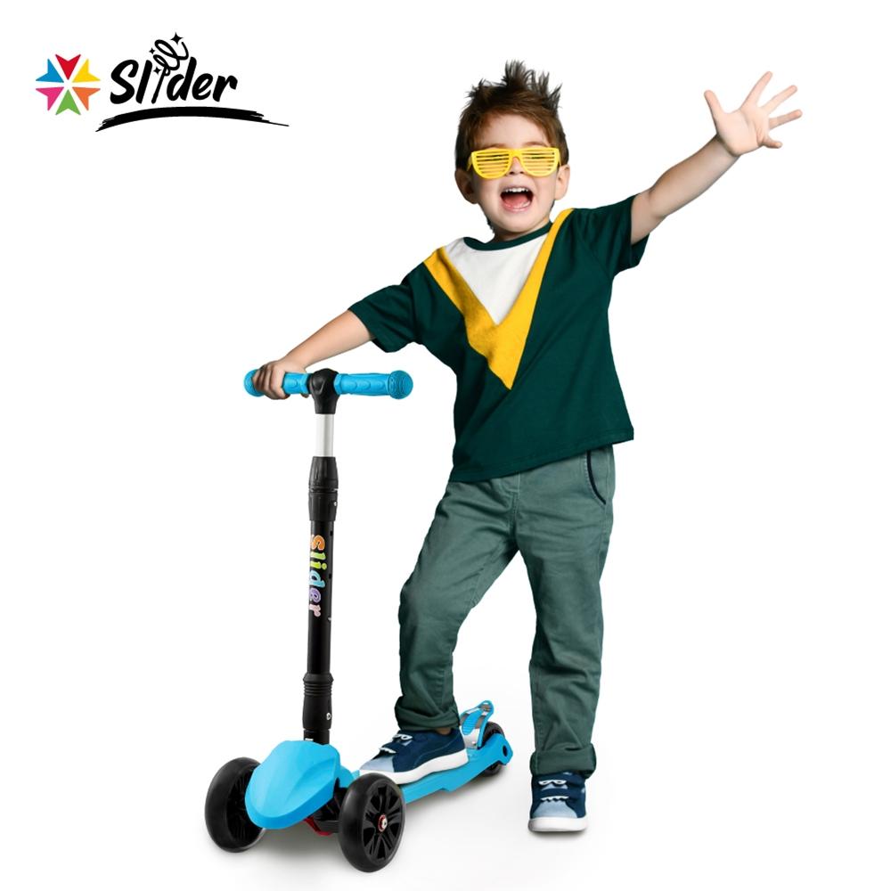 [Slider] 兒童三輪折疊滑板車XL1(淺藍)