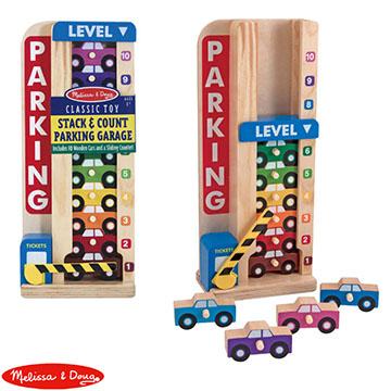 【華森葳兒童教玩具】益智邏輯系列-Melissa&Doug 數字顏色學習停車場 N7-5182