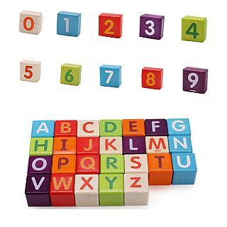 經典木玩 86大顆數字字母玩具積木組