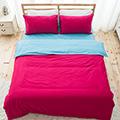 DUPARC【浪漫海灣-珊瑚海(紅藍)】雙人四件式精梳棉被套床單組