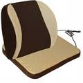 【源之氣】竹炭記憶透氣加強護腰+記憶透氣坐墊組合/米咖 9449-2+9450-1