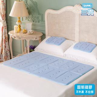 日本SANKI 3D尼龍網固態凝膠冰涼床墊1床+1枕