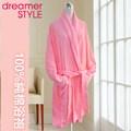 《dreamer STYLE》飯店級純棉素色睡浴袍(粉紅)