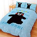 【享夢城堡】雙人床包涼被組四件式-酷MA萌 音樂會系列(藍)