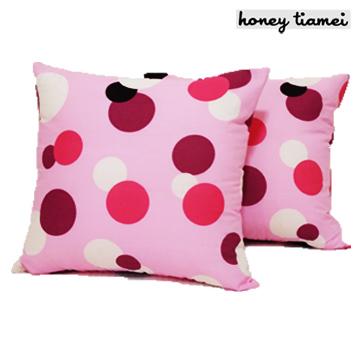 TIAMEI'粉彩泡泡抱枕(方型)2入-粉色