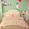 【樂芙】法式歐蕾-粉 雙人加大三件式床包