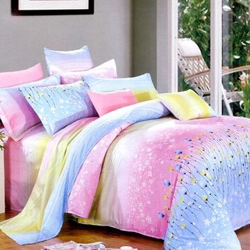 Chez moi 【花漾漫舞】MIT 加大精梳棉被套床包四件組