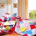 Chez moi 【淘氣元素】MIT 雙人精梳棉被套床包四件組