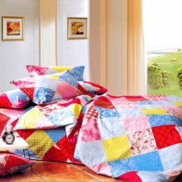 Chez moi 【淘氣元素】MIT 加大精梳棉被套床包四件組