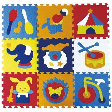 【BabyTiger虎兒寶】MIT 台灣製!頂級遊戲爬行地墊-魔術方塊系列地墊(微笑馬戲團)