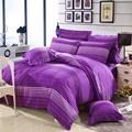 【KITSON 凱特森】台灣製天絲絨 單人三件式被套床包組--紫色情懷