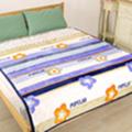 床之戀 貝貝絨立體紋路法蘭絨四季毯-紫羅蘭