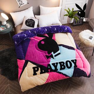 Playboy法蘭絨暖暖被 加厚款(180x210cm/04彩韵時光)