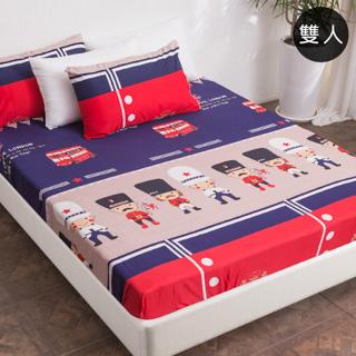 【J-bedtime】超舒柔雙人三件式床包組(英國奇兵)