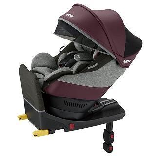 Aprica 愛普力卡 Cururila plus新型態迴轉式安全座椅(勃根地玫瑰RD)