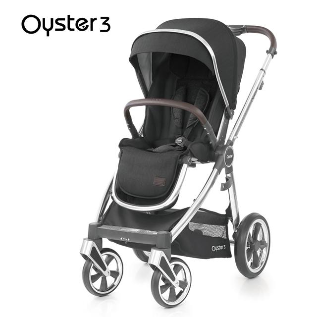 OYSTER3 雙向嬰幼兒手推車-曜石黑
