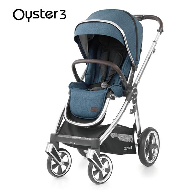 OYSTER3雙向嬰幼兒手推車-啞光藍
