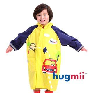 【hugmii】童趣立體造型書包位兒童雨衣_汽車