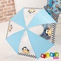 【kidszoo】童趣造型兒童雨傘自動傘_藍色小猴