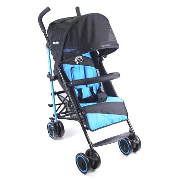 BabyBabe  新款全罩式加寬平躺傘車  (時尚藍)
