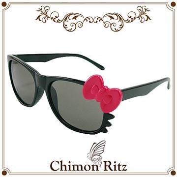 Chimon Ritz 帥氣貓兒童太陽眼鏡-黑