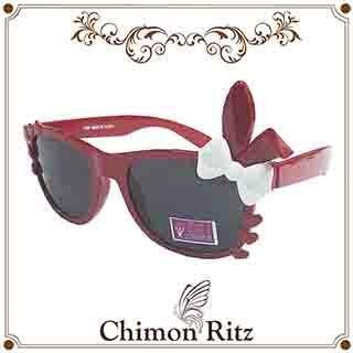 Chimon Ritz 甜心免兒童太陽眼鏡-紅