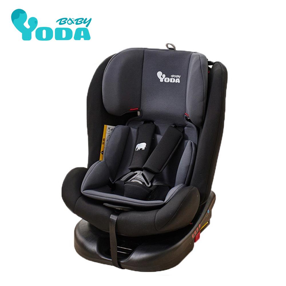 YODA ISO-FIX 全階段360度汽車安全座椅-時尚黑