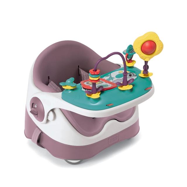【Mamas & Papas】三合一都可椅/餐椅-乾燥玫瑰+吃喝玩樂盤