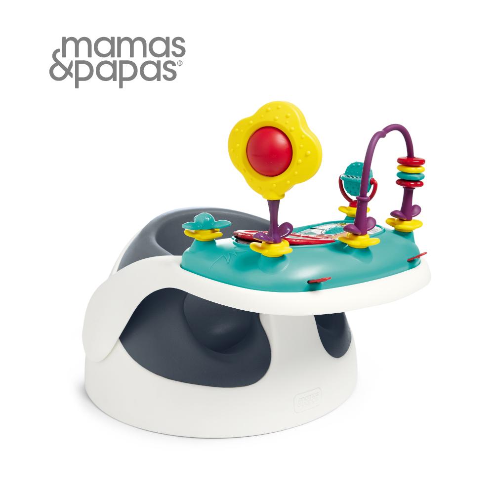 【Mamas & Papas】二合一育成椅v2含玩樂盤(岸岩藍)