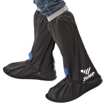【JUMP】尼龍反光安全鞋套L001(黑紅_M~3XL)